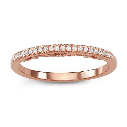 Simply Vera Vera Wang 14k Rose Gold 1/10 Carat T.W. Diamond Ring
