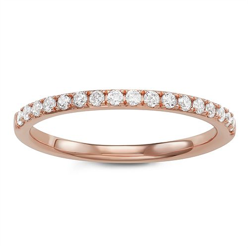 Simply Vera Vera Wang 14k Gold 1/4 Carat T.W. Diamond Wedding Band