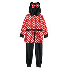 Disney's Minnie Mouse Girls 4-8 Fleece Skirted Union Suit Pajamas