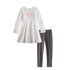 Girls 4-12 Jumping Beans® Snowflake Dress & Leggings Set