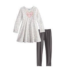 Girls 4-12 Jumping Beans® Snowflake Dress & Leggings Set