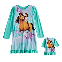 Girls 4-12 Spirit Dorm Nightgown & Doll Nightgown