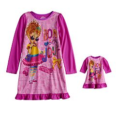 Disney's Fancy Nancy Girls 4-10 Dorm Nightgown & Doll Gown