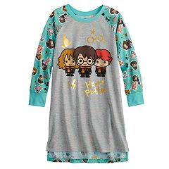 Girls 6-12 Harry Potter, Hermoine & Ron Knee Length Dorm Nightgown