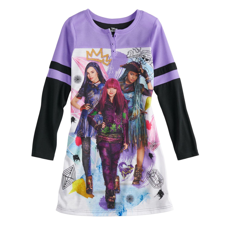 Disneyu0027s Descendants Girls 6 14 Dorm Nightgown