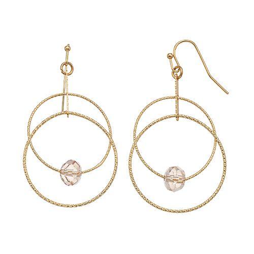 LC Lauren Conrad Double Hoop Earrings