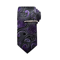Men's Apt. 9® Print Tie & Tie Bar