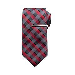 Men's Apt. 9® Print Tie & Tie Bar