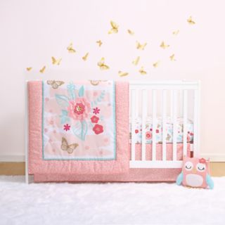 Little Haven Aflutter 4-Piece Crib Bedding Set