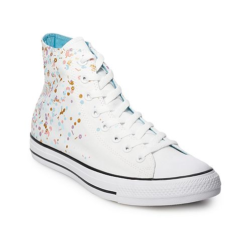 Women s Converse Chuck Taylor All Star Birthday Confetti High Top Shoes 10bbd4ca4