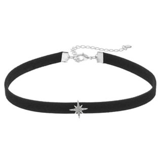 LC Lauren Conrad Black Cord Star Choker Necklace