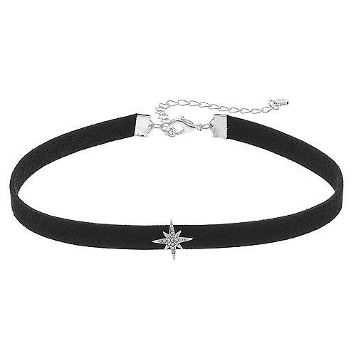 LC Lauren Conrad Black Cord Star Choker Necklace
