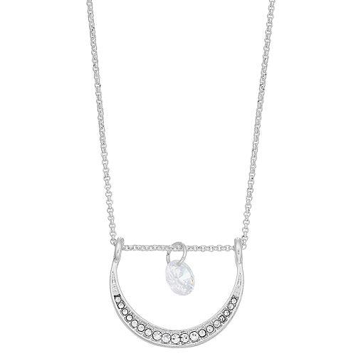 LC Lauren Conrad Moon & Stone Pendant Necklace