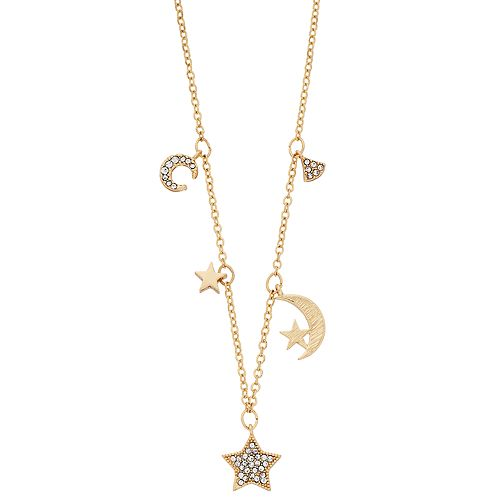 LC Lauren Conrad Star & Moon Charm Necklace