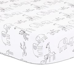 Little Haven Elephant Park Fitted Crib Sheet