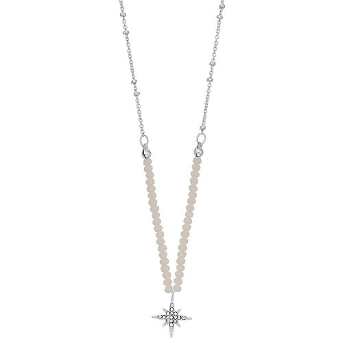 LC Lauren Conrad Beaded Starburst Pendant Necklace