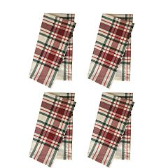 St. Nicholas Square® Farmhouse Plaid Napkin 4-pack