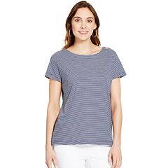 Women's IZOD Button-Shoulder Boatneck Tee