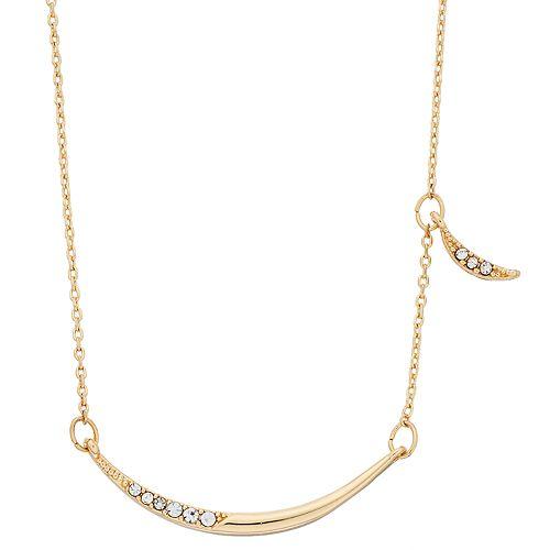 LC Lauren Conrad Pave Moon Pendant Necklace