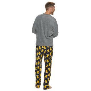 Men's Croft & Barrow® Patterned Crewneck Tee & Lounge Pants Set