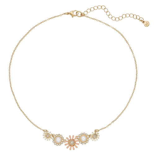 LC Lauren Conrad Flower & Pearl Pendant Necklace