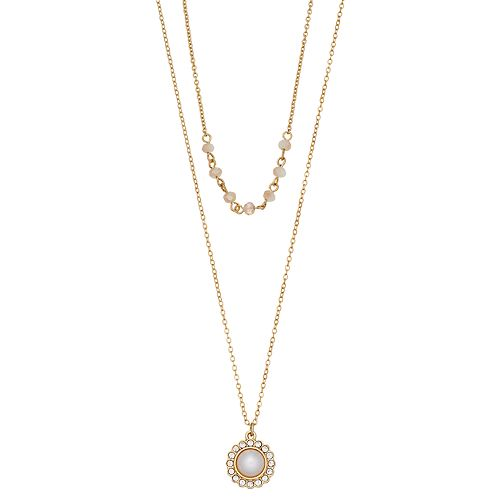 LC Lauren Conrad Double Strand Simulated Pearl Necklace
