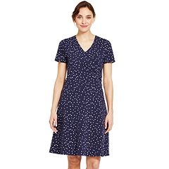 Women's IZOD Star Print Faux-Wrap Dress