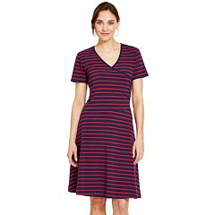 Women's IZOD Striped Faux-Wrap Dress
