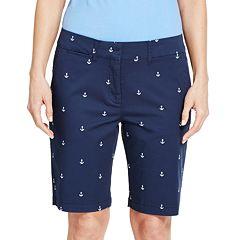 Women's IZOD Print Bermuda Shorts