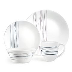 Corelle Boutique Silver Strands 16-piece Dinnerware Set
