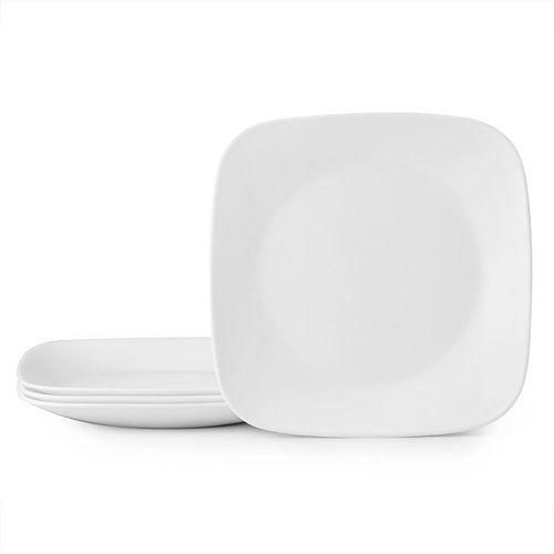 Corelle Boutique Square Vivid White 4-piece Lunch Plate Set