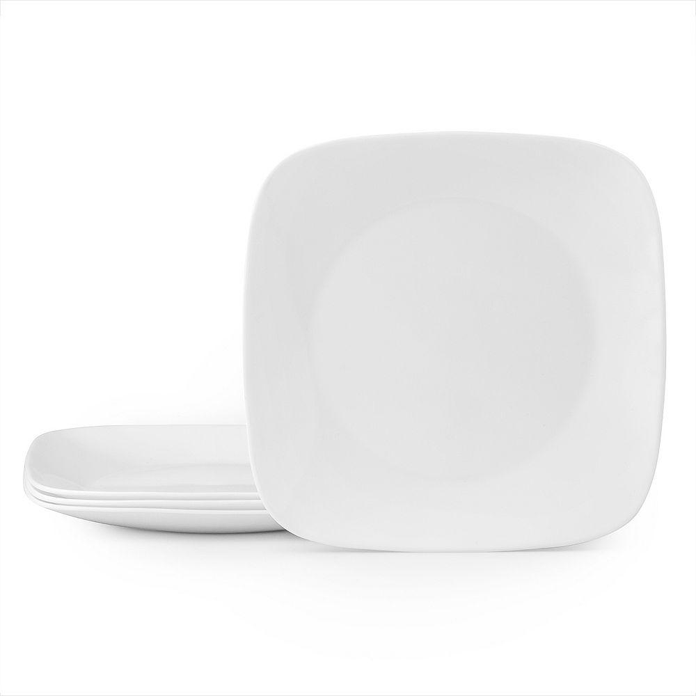Corelle Boutique Square Vivid White 4-pc. Dinner Plate Set