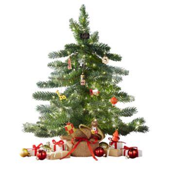 FAO Schwarz 15-in. Artificial Christmas Tree & Mini Ornament 11-piece Set