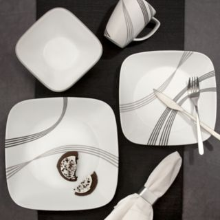 Corelle Boutique Square Urban Arc 30-piece Dinnerware Set