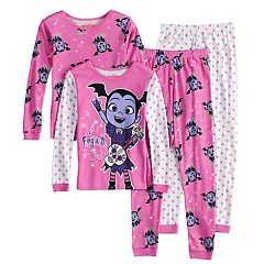 Disney's Vampirina Vee Girls 4-8 Tops & Bottoms Pajama Set
