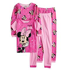 Disney's Minnie Mouse Girls 4-8 Top & Bottoms Pajama Set