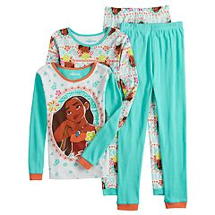 Disney's Moana Girls 4-10 Tops & Bottoms Pajama Set