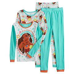 Disney's Moana Girls 4-10 Tops & Bottoms Pajama Set