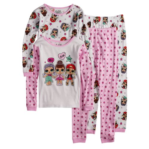 Girls 4 10 L O L Surprise Tops Bottoms Pajama Set