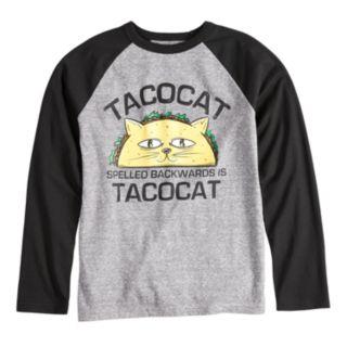 Boys 8-20 Taco Cat Tee
