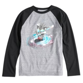 Boys 8-20 Space Cat Dab Tee