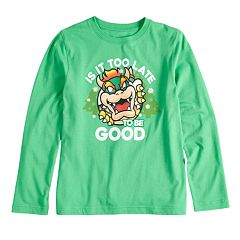 Boys 8-20 Super Mario Bros. Bowser Christmas Tee