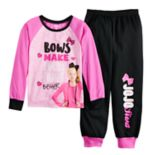 "Girls 6-12 JoJo Siwa ""Bows Make Everything Better"" Top & Bottoms Pajama Set"