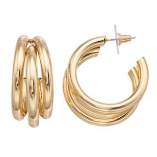 Jennifer Lopez Nickel Free Layered Hoop Earrings