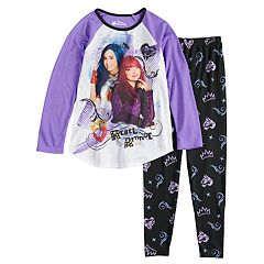 Disney's Descendants Mal & Evie Girls 6-14 Top & Bottoms Pajama Set