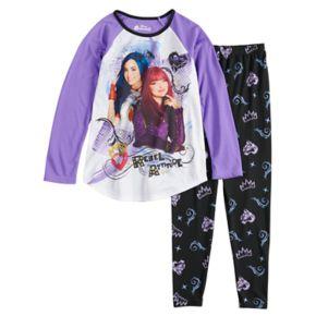Disney's Descendants Mal & Evie Girls 6-14 Top & Bottoms Pajama Set