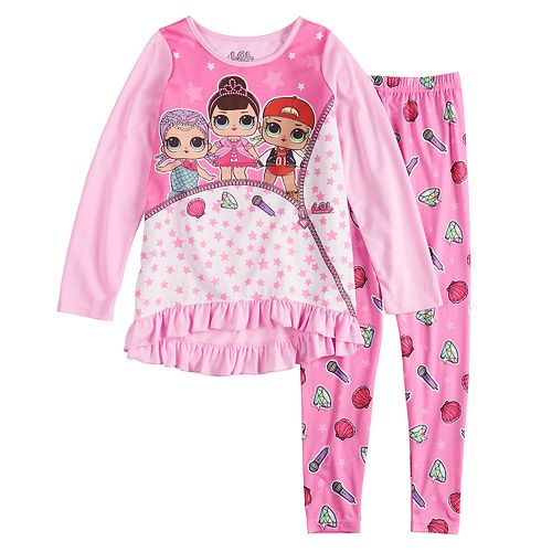 Girls 4-10 L.O.L. Surprise! Tunic Top & Bottoms Pajama Set