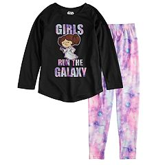 Girls 6-14 Star Wars Princess Leia 'Girls Run The Galaxy' Top & Bottoms Pajama Set