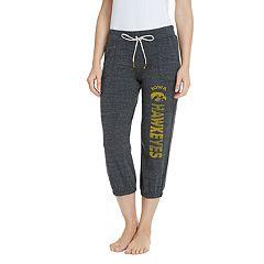 Women's Pitch Iowa Hawkeyes Capri Lounge Pants