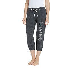 Women's Pitch Michigan State Spartans Capri Lounge Pants